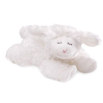 White Plush Rattle