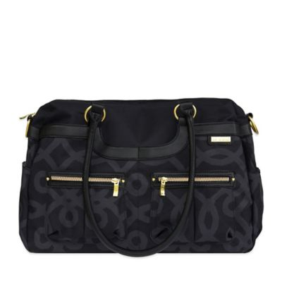 JJ Cole® Satchel Bag in Black & Gold
