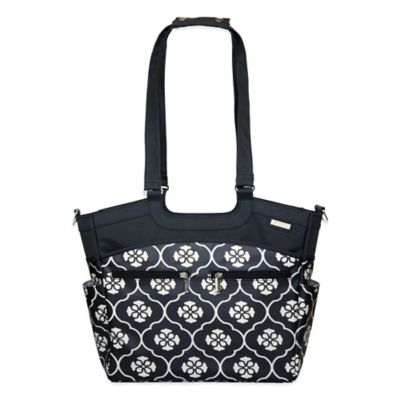 JJ Cole® Camber Diaper Bag in Black Floret
