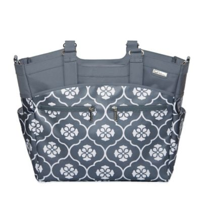 JJ Cole® Camber Diaper Bag in Grey Floret