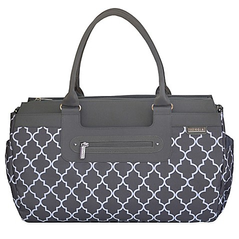jj cole parker weekender diaper bag in stone arbor bed bath beyond. Black Bedroom Furniture Sets. Home Design Ideas