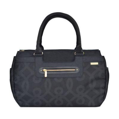 JJ Cole® Parker Weekender Diaper Bag in Black and Gold