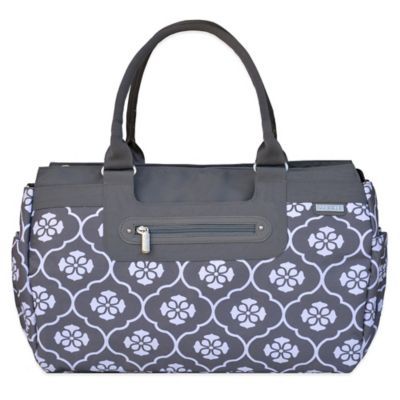 JJ Cole® Parker Weekender Diaper Bag in Grey Floret