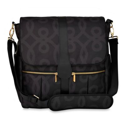 JJ Cole® Backpack Diaper Bag in Black/Gold
