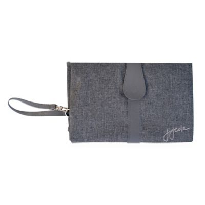 JJ Cole Changing Clutch in Grey Heather