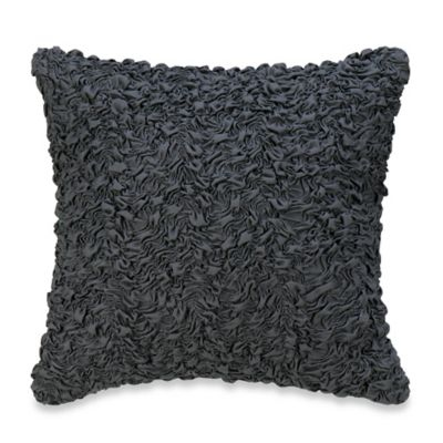 Sonoma Solid Square Throw Pillow in Grey