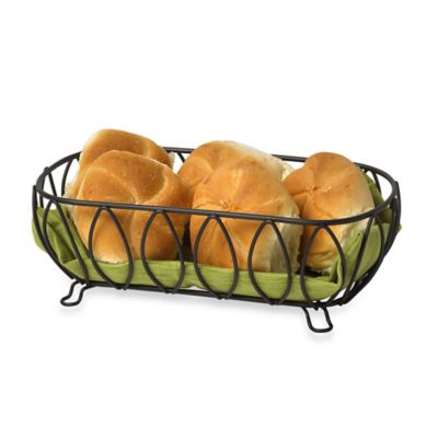 Spectrum™ Leaf Bread Basket in Chrome