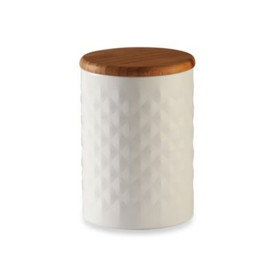 Typhoon® Imprima Pyramid Embossed Canister in White