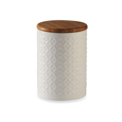 White Embossed Canister