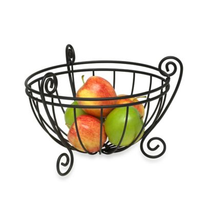 Spectrum™ Scroll Deluxe Fruit Bowl in Black