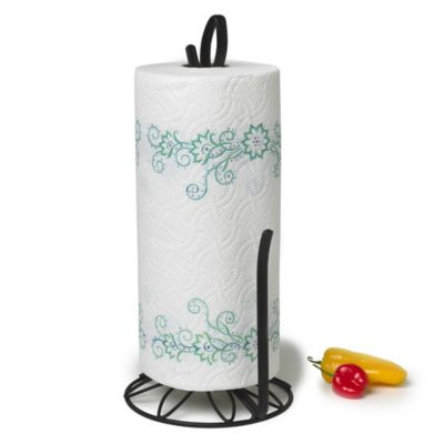 Spectrum™ Leaf Paper Towel Holder in Black