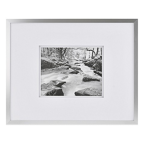 Buy Real Simple 174 Silver Finish Wall Frame With White