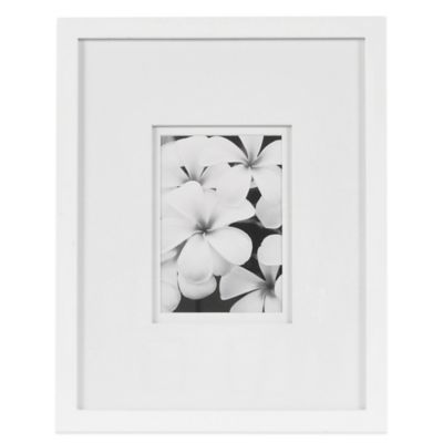 Real Simple® White Wood Wall Frame with White Double Mats for 5-Inch x 7-Inch Photo