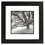 Real Simple® Black Wood Wall Frame with White Over Black Mat for an 8-Inch x 8-Inch Photo