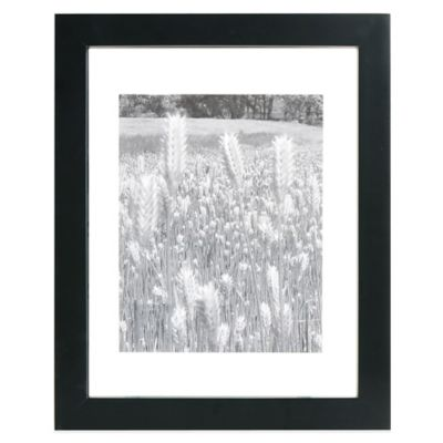 Real Simple® Black Wood Float Wall Frame for 11-Inch x 14-Inch Photo
