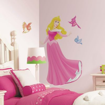 Buy disney wall decals from bed bath beyond for Barbie princess giant wall mural