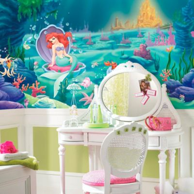 Disney® Little Mermaid Chair Rail Prepasted 10.5-Foot x 6-Foot Mural