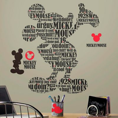 Disney® Mickey and Friends Typography Mickey Peel and Stick Wall Decals