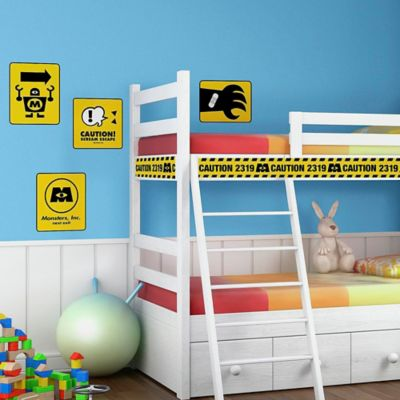 Disney® Monsters Inc. Caution Signs Giant Peel and Stick Wall Decals