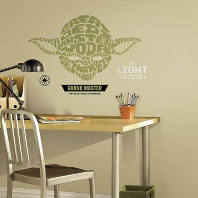 Disney® Star Wars™ Typographic Yoda Giant Peel and Stick Wall Decals