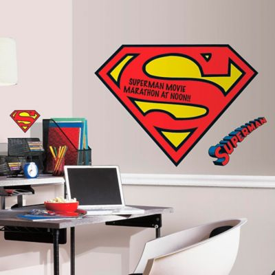 DC Comics™ Superman Logo Dry Erase Giant Peel and Stick Wall Decals