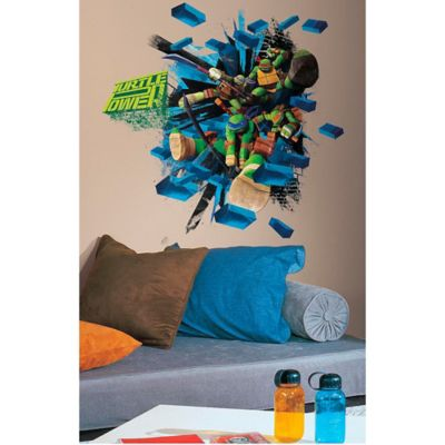 Teenage Mutant Ninja Turtles Brick Poster Peel and Stick Wall Decals
