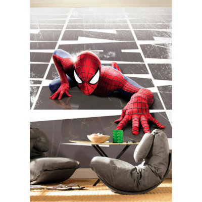 Spiderman Wall Mural spiderman wall decals - totally kids, totally bedrooms - kids
