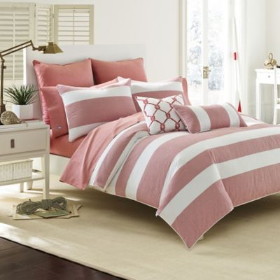 Southern Tide® Breakwater Twin Comforter Set in Vintage Red