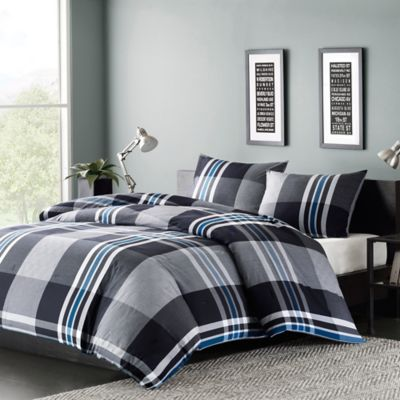 Ink Ivy Nathan Twin Duvet Cover Set