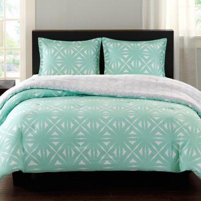 Aqua White Comforter Set