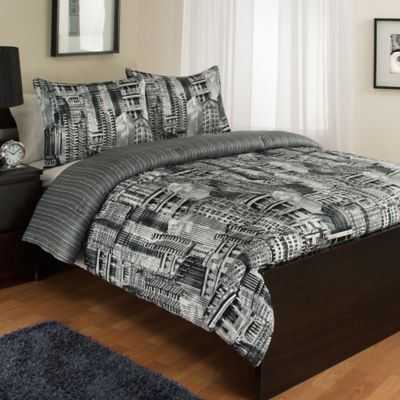 Madison Avenue Reversible Twin Comforter Set