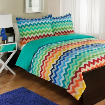 Blue Green Pattern Comforters