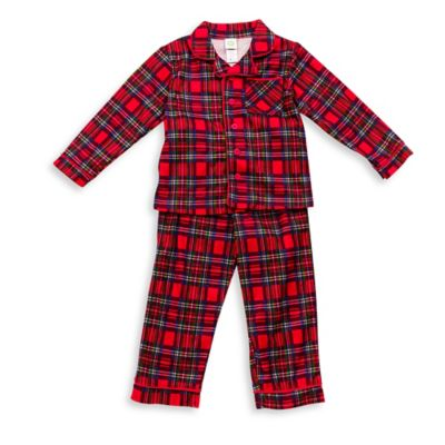 Little Me® Size 12M 2-Piece Plaid PJs in Red