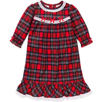 Little Me® Size 12M Plaid Gown in Red