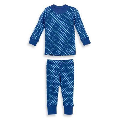 Masala Baby Size 12-18M 2-Piece Mini Squares Long Sleeves Organic Pajama Set