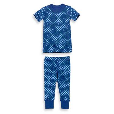 Masala Baby Size 2T 2-Piece Mini Squares Short Sleeves Organic Pajama Set