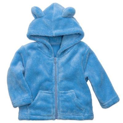 Elegant Baby® Size 12M Zip-Front Microfiber Hoodie in Blueberry