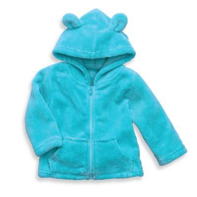Elegant Baby® Size 12M Zip-Front Microfiber Hoodie in Aqua