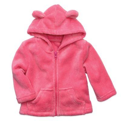 Elegant Baby® Size 12M Zip-Front Microfiber Hoodie in Raspberry