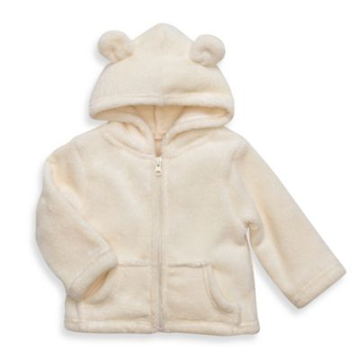 Elegant Baby® Size 12M Zip-Front Microfiber Hoodie in Cream