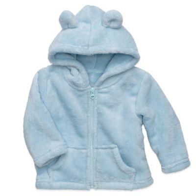Elegant Baby® Size 12M Zip-Front Microfiber Hoodie in Blue