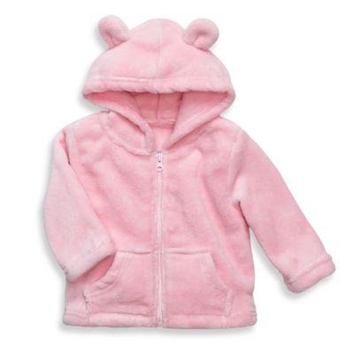 Elegant Baby® Size 6M Zip-Front Microfiber Hoodie in Pink