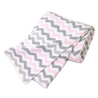 Pink/Grey Zigzag
