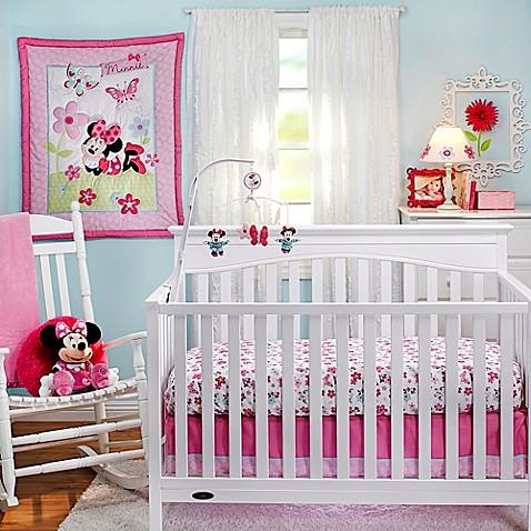Baby nursery gt baby bedding gt disney 174 minnie s garden crib bedding
