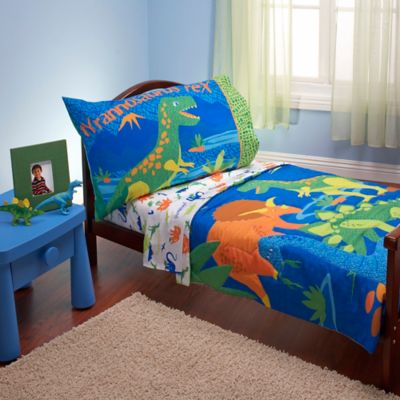 Everything Kids by Nojo® Dinosaurs 4-Piece Toddler Bedding Set