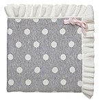 Elegant Baby® Dot Blanket with Ruffle in Grey