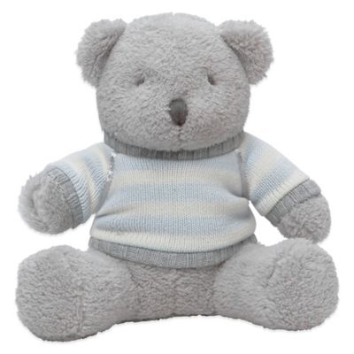 Elegant Baby Plush Bear with Striped Sweater
