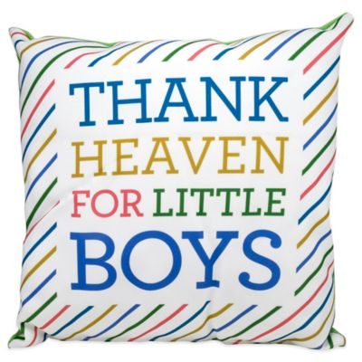 "About Face Designs ""Thank Heaven For Little Boys"" Baby Pillow"