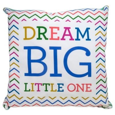 "About Face Designs ""Dream Big"" Baby Pillow"