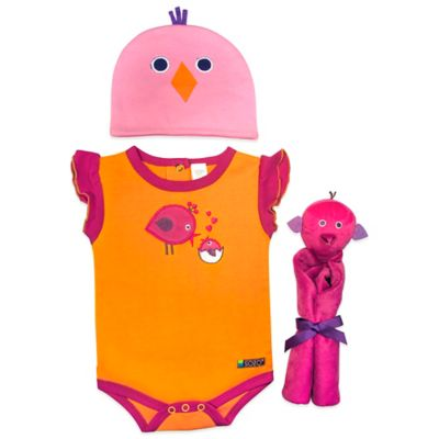Sozo® 3-Piece Birdie Welcome Home Gift Set in Orange/Pink